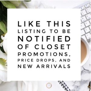 New listing up!! Like to bookmark my closet.